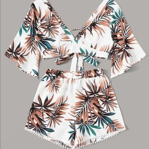 Floral Two Piece Summer Outift